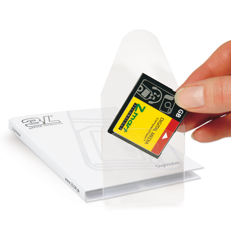 3L Self-Adhesive Memory Card Pockets