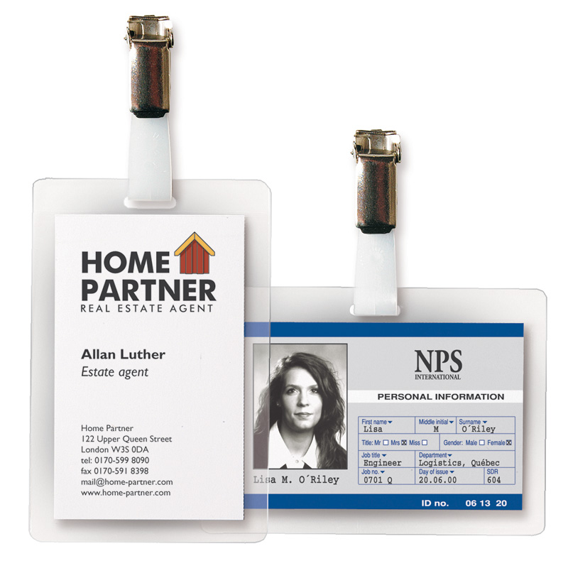 "3L Self-Laminating ID Badges - 3"" x 4"""