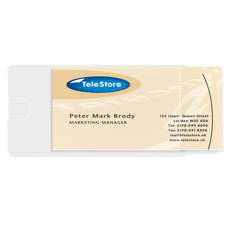 3L Self-Adhesive Business Card Pockets - Side Load