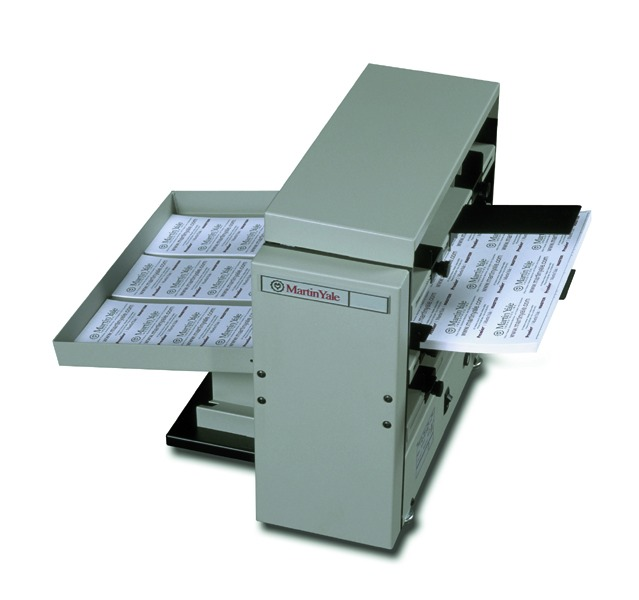 Tabletop 10-Up Business Card Slitter w/Scoring and Perforating