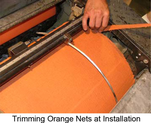Lithco Premium Orange Wavy Anti-Marking Nets