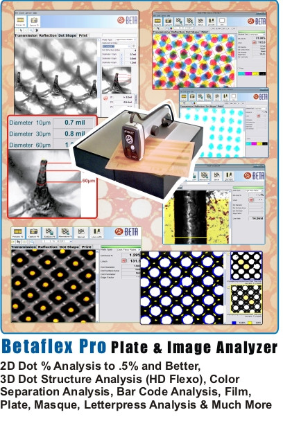 BetaFlex Pro Plate and Image Analyzer - Technology for Today's Flexo