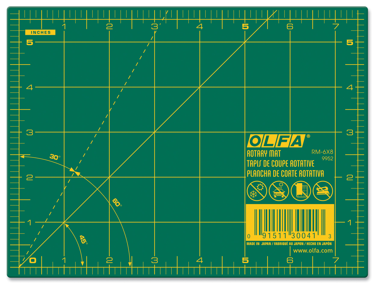 "OLFA Double Sided 6"" x 8"" Rotary Mat"