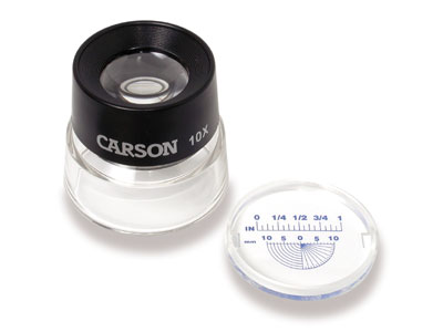 Carson LL-20 10X LumiLoupe™ Stand Magnifier With Reticle
