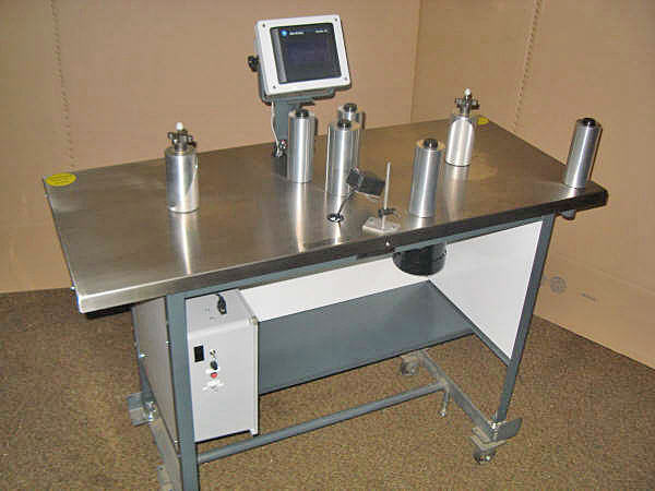 "Teco Model 300 UPC, 8"" Rewind Inspection Table"