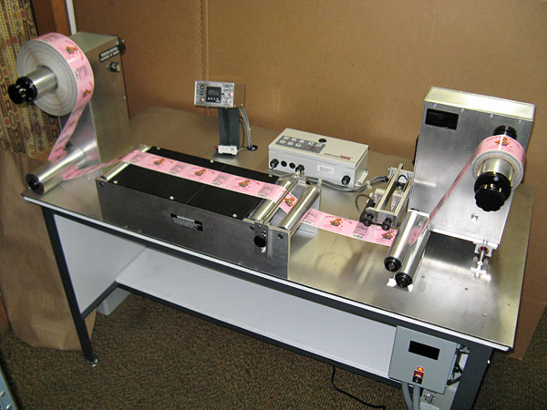 "Teco Model 700, 7"" Horizontal Rewind Inspection Table"