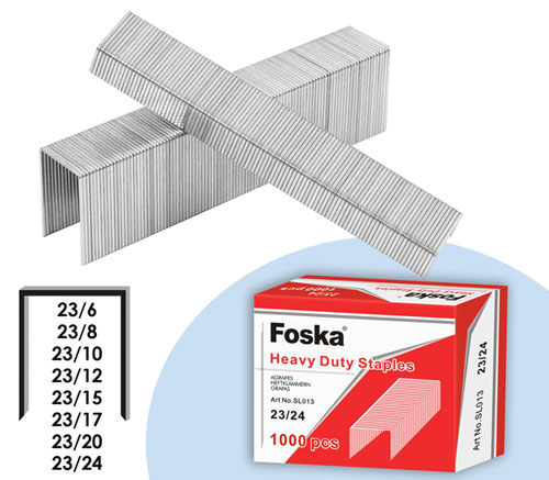 Foska Heavy Duty Staples - 23/10 - 3/8""