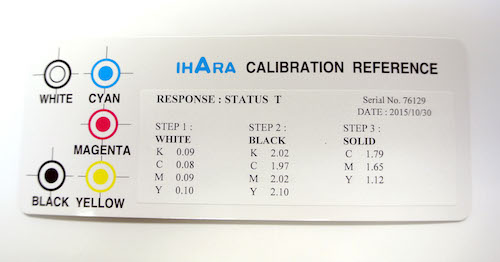 Color Reflection Densitometer Status-T Calibration Card