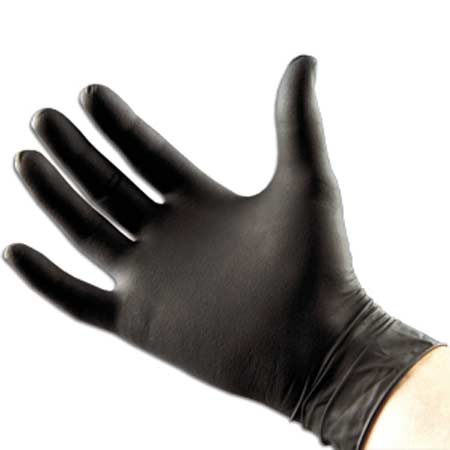 Lithco Disposable Black Heavy Duty Nitrile Gloves - Industrial Strength