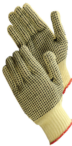 Lithco No-Kut Kevlar® PVC Dot String Gloves
