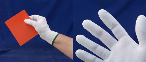 "Lithco Nylon Knit Lab Gloves with ""Finger-Gripz"""