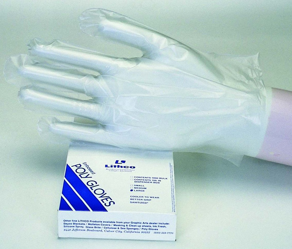 Lithco Embossed Poly Gloves
