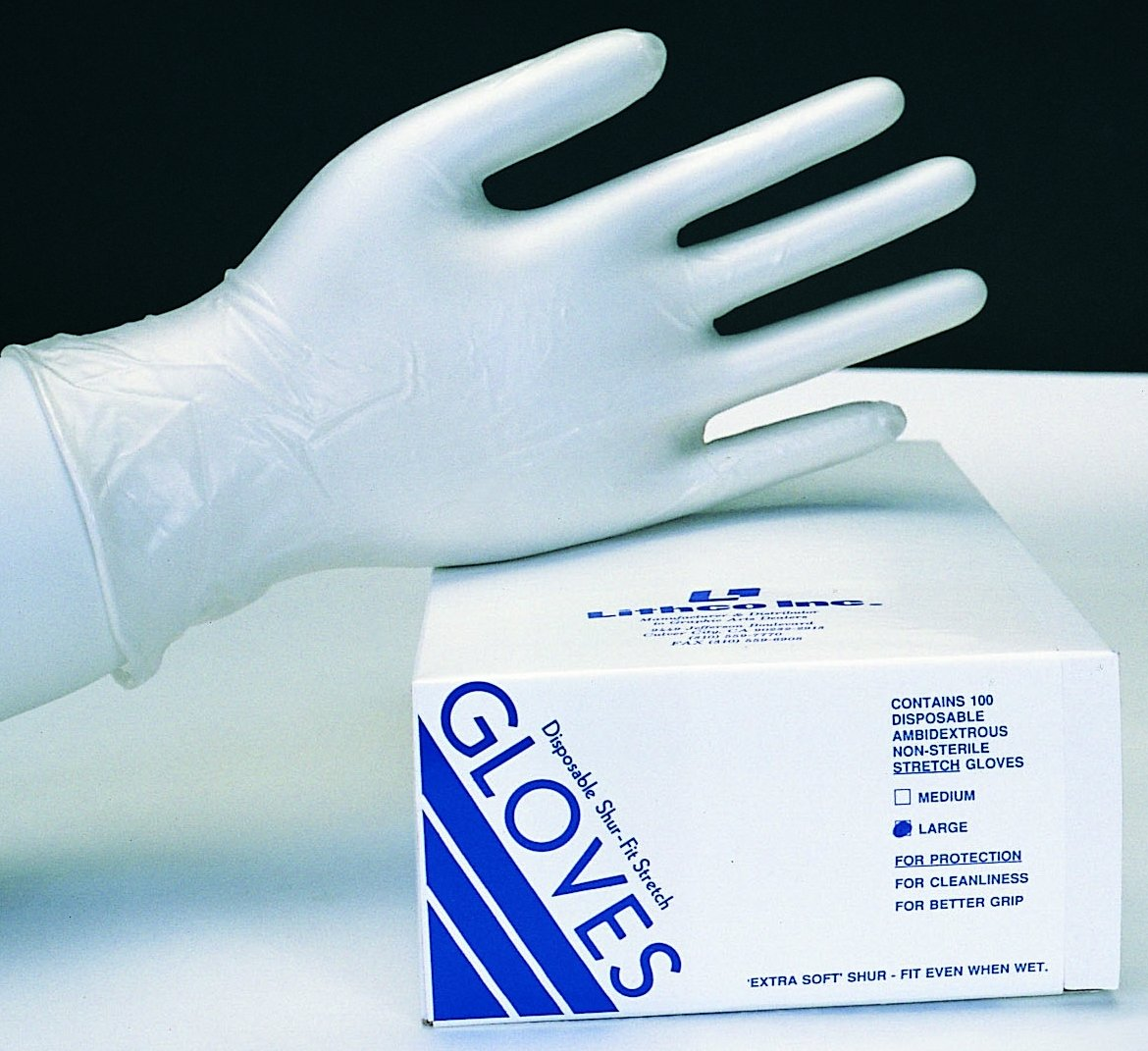 Lithco Shur-Fit Disposable Vinyl Gloves