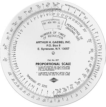 #857 Vinyl Proportion Wheel Scale - 8""