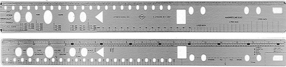 606M - Stainless Steel Two-Sided Continuous Forms Ruler