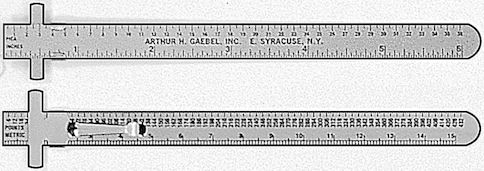 "611-C - Series 6"" Stainless Steel Ruler With Clip"