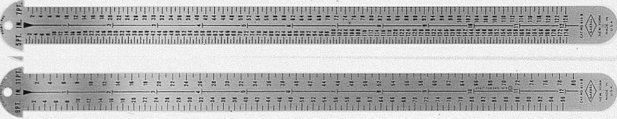 "#614-B - Stainless Steel 12"" Two-Sided Line Gauge - 5 and 7 Point/9 and 11 Point"
