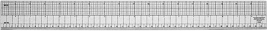 C-Thru #B-95 English/Metric Beveled Ruler 18""