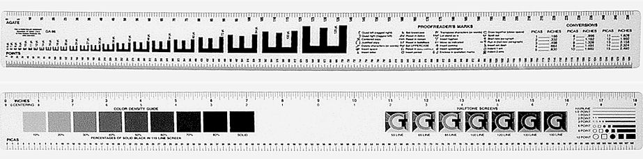 C-Thru #GA-86 Vinyl Graphic Arts Ruler 18""