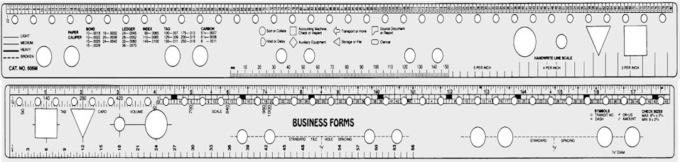 Business Forms Ruler