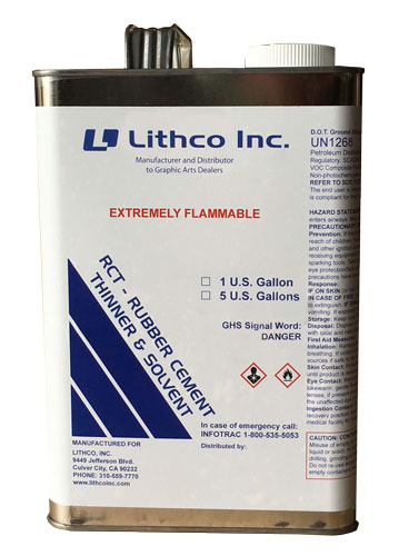Lithco RCT – Rubber Cement Thinner & Solvent