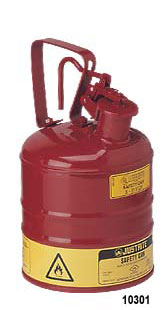 Justrite 1 Gallon Metal Safety Can Type I