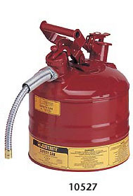 Justrite 2 Gallon Metal Safety Can Type II