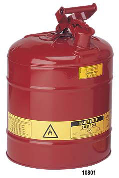 Justrite 5 Gallon Metal Safety Can Type I