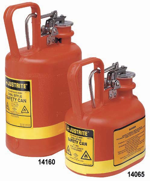Justrite 1 Gallon Oval Polyethylene Safety Can Type I
