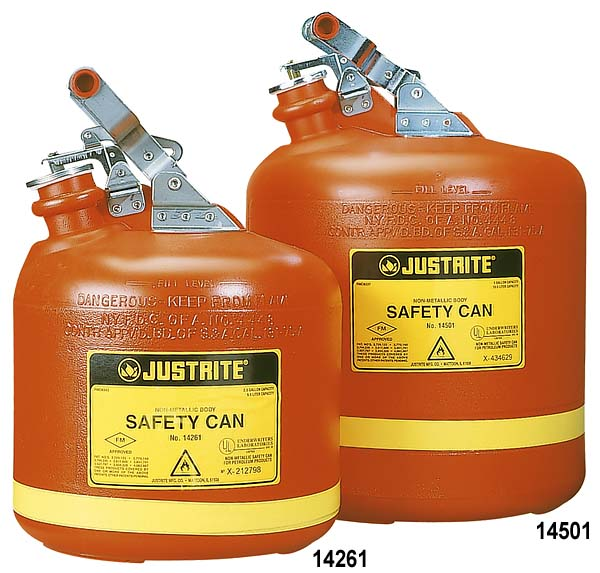 Justrite Polyethylene Safety Can Type I