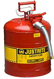 Justrite Metal Safety Cans Type II Accuflow