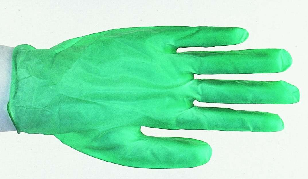 Jomac Brand Heavy Duty Disposable Green Vinyl Gloves
