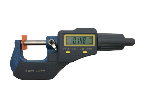Inch/Metric LCD Readout Micrometer