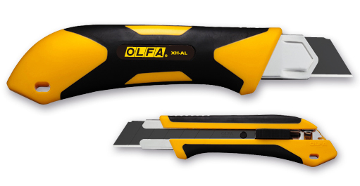OLFA 25mm Fiberglass Rubber Grip Utility Knife (XH-AL)