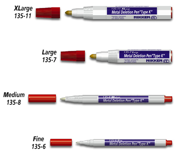 "Nikken Metal Deletion Pens ""Type K"""