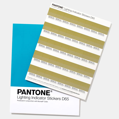PANTONE Lighting Indicator Stickers - D65