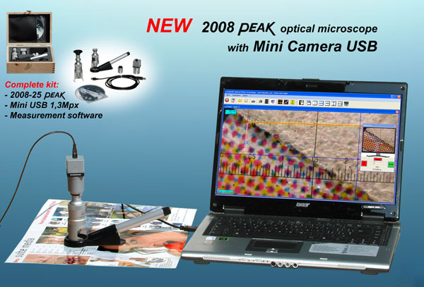 Depth Measuring Video Microscope - 2008 + USB Camera
