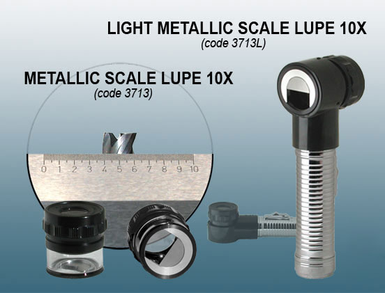 Peak 3713 Metallic Scale Loupe 10x