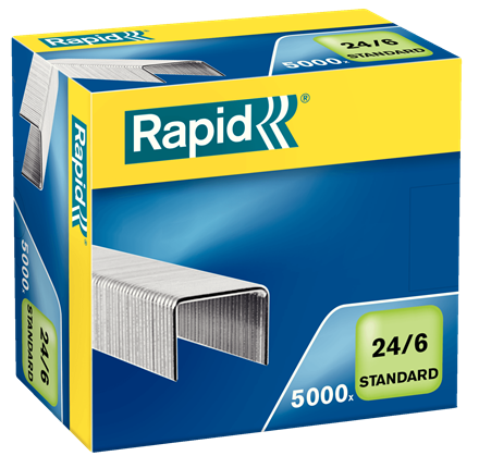 Rapid 24/6 (44/4) Staples - 1/4""