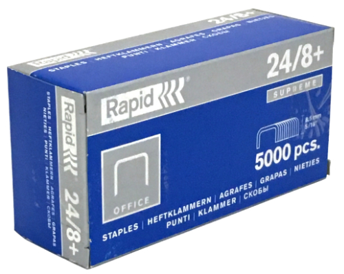 Rapid 24/8+ Staples > 5/16""