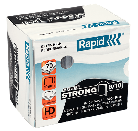 "Rapid SuperStrong Staples 9/10 - 3/8"" / 10 mm"