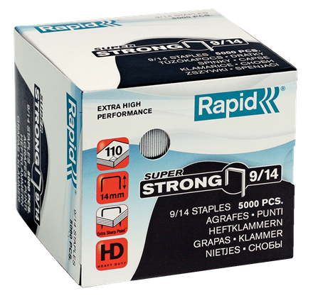 "Rapid SuperStrong Staples 9/14 - 9/16"" / 14 mm"