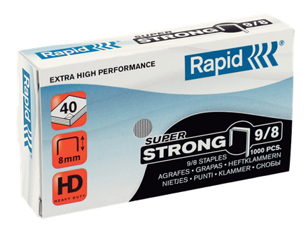 "Rapid SuperStrong Staples 9/8 - 5/16"" / 8 mm"