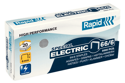 Rapid 66/6 Special Electric Staples - 1/4""