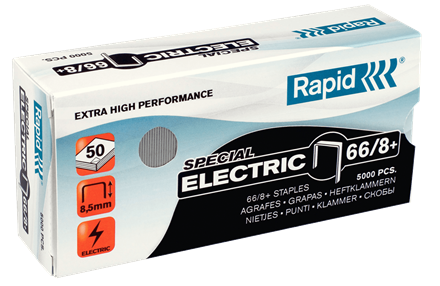 Rapid 66/8 High Capacity Staples - 5/16""