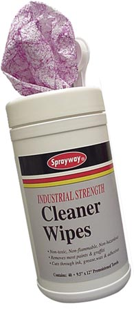 Sprayway #963 Industrial Strength Cleaner Wipes