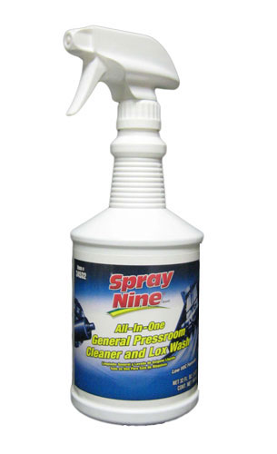 Spray Nine All-In-One General Pressroom Cleaner and Lox (Anilox) Wash