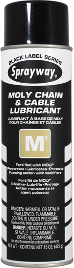 Sprayway #291 M1 Moly Chain & Cable Lubricant