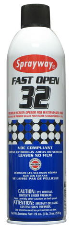 Sprayway #32 Fast Open Premium Water Based Screen Opener and Cleaner
