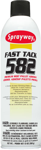 Sprayway #582 Fast Tack Screen Print Mist Adhesive - CA Compliant